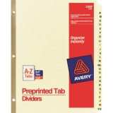Avery&reg Laminated Pre-printed Tab Dividers - Gold Reinforced
