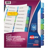 Avery&reg Ready Index Customizable Table of Contents Double Column Dividers