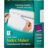 Avery&reg Index Maker Print & Apply Clear Label Plastic Dividers