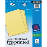 Avery&reg Laminated Pre-printed Tab Dividers - Copper Reinforced