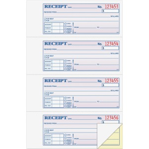 Adams Money/Rent Receipt Book