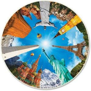 A Broader View Legendary Landmarks 500pc Round Puzzle