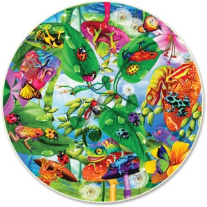 A Broader View Creepy Critters 500-Piece Round Puzzle