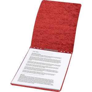 "ACCO® PRESSTEX® Report Covers, Top Binding for Letter Size Sheets, 3"" Capacity, Red"