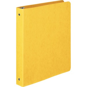 "Wilson Jones® PRESSTEX® Ring Binder, Round Ring, 1"", Yellow"