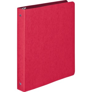 "Wilson Jones® PRESSTEX® Ring Binder, Round Ring, 1"", Executive Red"