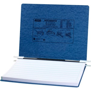 "ACCO® PRESSTEX® Covers w/ Hooks, Unburst 14 7/8"" x 11"" Sheets, Dark Blue"