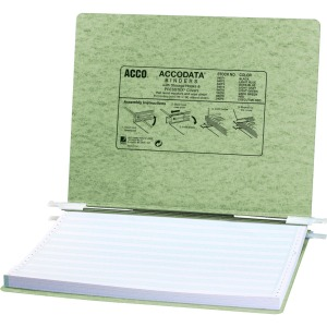 "ACCO® PRESSTEX® Covers w/ Hooks, Unburst 14 7/8"" x 11"" Sheets, Light Green"