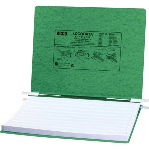 "ACCO® PRESSTEX® Covers w/ Hooks, Unburst 14 7/8"" x 11"" Sheets, Dark Green"