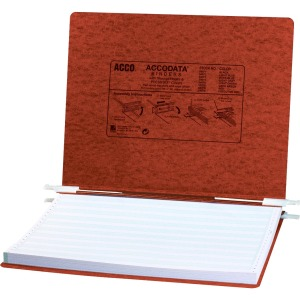 "ACCO® PRESSTEX® Covers w/ Hooks, Unburst 14 7/8"" x 11"" Sheets, Red"