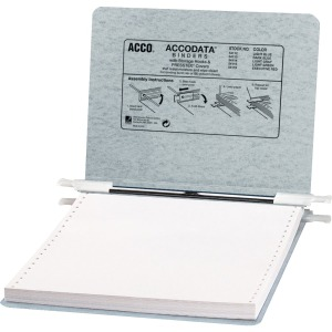 "ACCO® PRESSTEX® Covers w/ Hooks, Unburst, 9 1/2"" x 11"" Sheets, Light Gray"