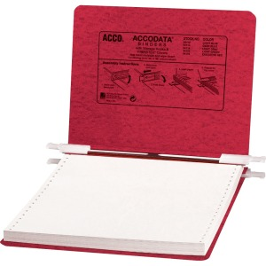 "ACCO® PRESSTEX® Covers w/ Hooks, Unburst, 9 1/2"" x 11"" Sheets, Executive Red"
