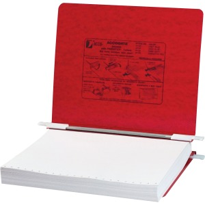 "ACCO® PRESSTEX® Covers w/ Hooks, Unburst 11"" x 8 1/2"" Sheets, Executive Red"