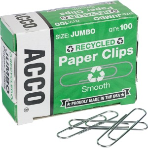 Acco Recycled Paper Clips