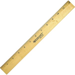 Westcott Beveled Metal Edge Wood Rulers