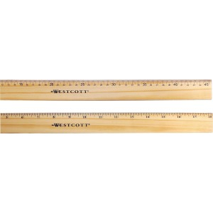 Westcott Flexible Wood/Brass Edge Ruler