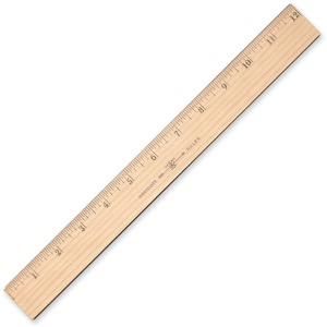 Westcott Inches/Metric Wood Ruler