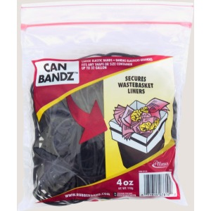 Alliance Rubber 07810 Can Bandz - Large Rubber Bands to secure Trash Liners