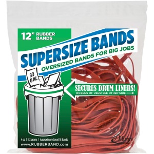 "Alliance Rubber 08994 SuperSize Bands - Large 12"" Heavy Duty Latex Rubber Bands - For Oversized Jobs"