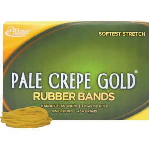 Alliance Rubber 20165 Pale Crepe Gold Rubber Bands - Size #16