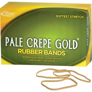 Alliance Rubber 20335 Pale Crepe Gold Rubber Bands - Size #33