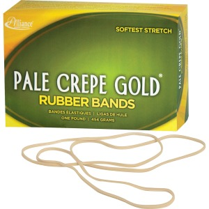 Alliance Rubber 21405 Pale Crepe Gold Rubber Bands - Size #117B