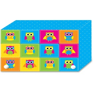 Ashley Colorful Owls Index Card Holder