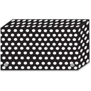 Ashley B/W Dots Design Index Card Holder