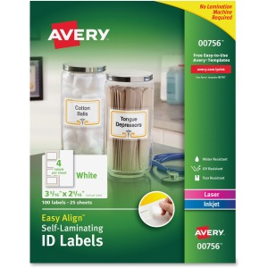 Avery Easy Align Durable Self-Laminating ID Labels