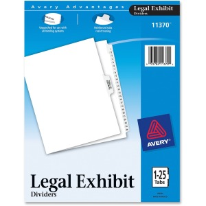 Avery Premium Collated Legal Exhibit Divider Sets - Avery Style