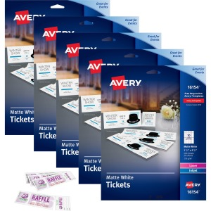 Avery Printable Tickets with Tear-Away Stubs