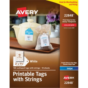 Avery&reg Printable Tags with Strings