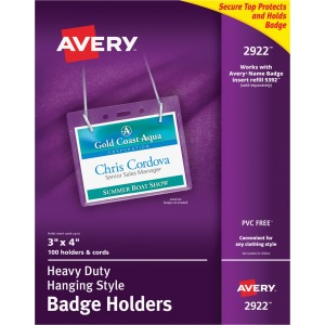 Avery Heavy Duty Secure Top Badge Holders