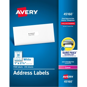 Avery White Mailing Labels