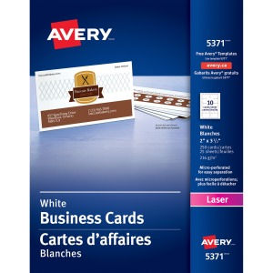 Avery Laser Print Business Card