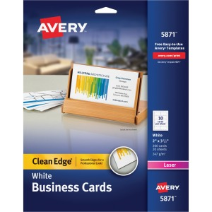 Avery Clean Edge Laser Print Business Card
