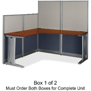 Bush Business Furniture Office in an Hour 65W x 65D L-Workstation Box 1 of 2