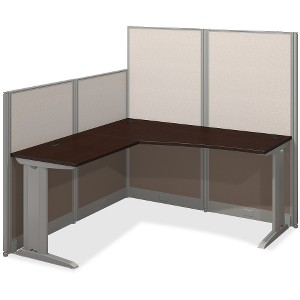 Bush Business Furniture Mocha Cherry U-Workstation box 2/3
