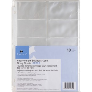 SHEETS,BUSINESS CRD,10CT,CL