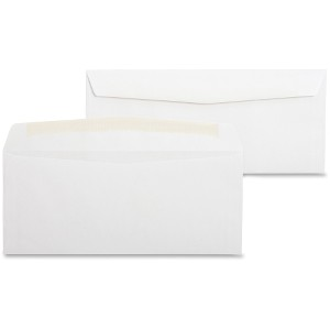 Business Source No. 10 White Wove Business Envelopes