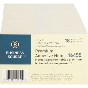 Business Source Repositionable Notes