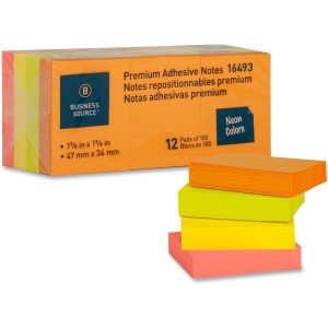 Business Source Premium Repostionable Adhesive Notes