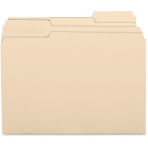 Business Source 1/3 Cut Recycled Top Tab File Folder
