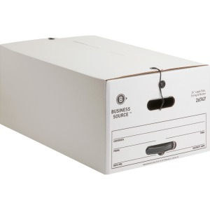 Business Source Medium Duty Legal-sz Storage Box