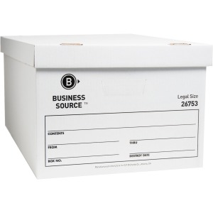 Business Source Lift-off Lid Med-dty Storage Box