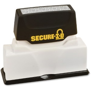 Consolidated Stamp Black Ink Secure ID Stamp