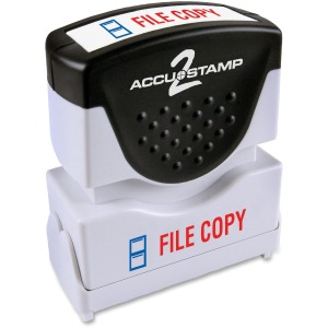 COSCO 2-Color Shutter Stamp with Microban