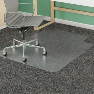 deflecto Clear Lip Medium Pile SuperMat Chairmat
