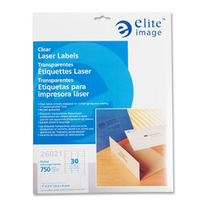 Elite Image Clear Address Laser Labels