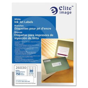 Elite Image White Mailing Inkjet Labels
